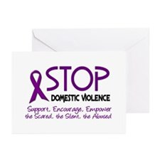 Stop Domestic Violence 2 Greeting Cards (Pk of 20)
