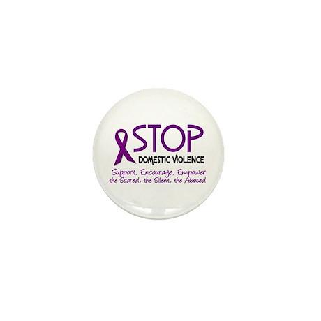Stop Domestic Violence 2 Mini Button