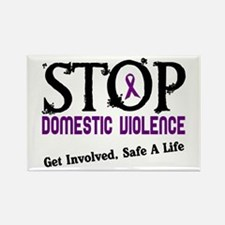 Stop Domestic Violence 2 Rectangle Magnet