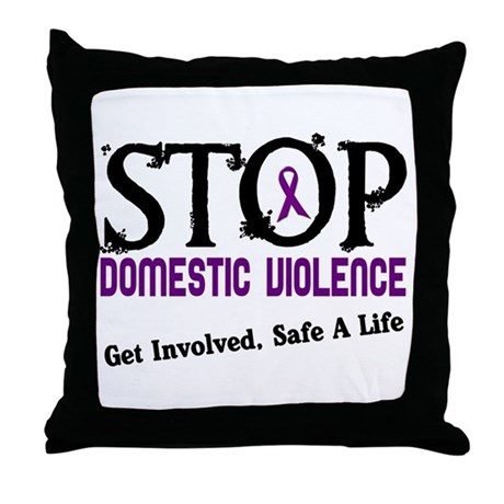 Stop Domestic Violence 2 Throw Pillow