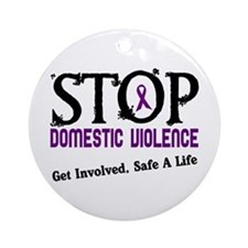 Stop Domestic Violence 2 Ornament (Round)