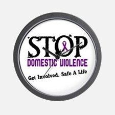 Stop Domestic Violence 2 Wall Clock
