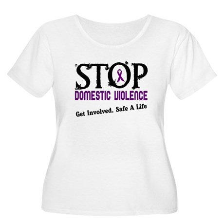 Stop Domestic Violence 2 Women's Plus Size Scoop N