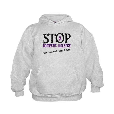 Stop Domestic Violence 2 Kids Hoodie