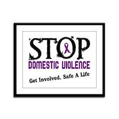 Stop Domestic Violence 2 Framed Panel Print