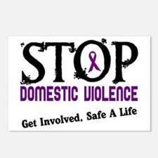Stop Domestic Violence 2 Postcards (Package of 8)