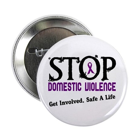 """Stop Domestic Violence 2 2.25"""" Button (100 pack)"""