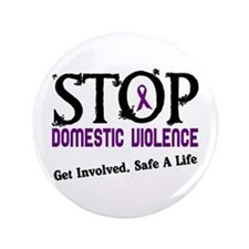 """Stop Domestic Violence 2 3.5"""" Button (100 pack)"""