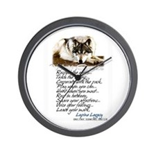 Cute Lupine Wall Clock