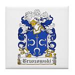 Brzozowski Family Crest Tile Coaster