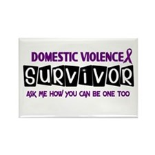 Domestic Violence Survivor 1 Rectangle Magnet