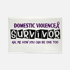 Domestic Violence Survivor 1 Rectangle Magnet