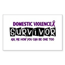 Domestic Violence Survivor 1 Rectangle Decal