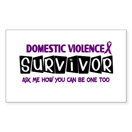 Domestic Violence Survivor 1 Rectangle Sticker