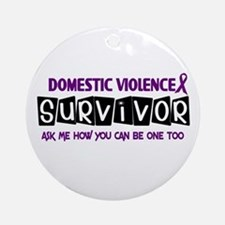 Domestic Violence Survivor 1 Ornament (Round)