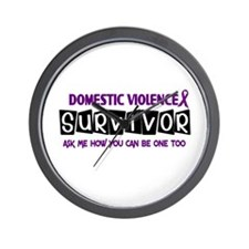 Domestic Violence Survivor 1 Wall Clock