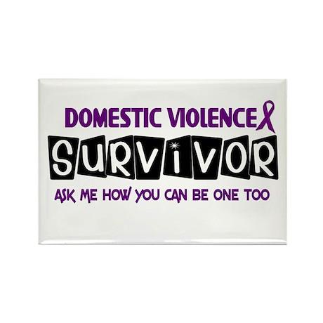 Domestic Violence Survivor 1 Rectangle Magnet (100