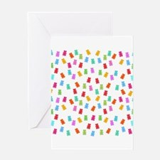 Candy pattern Greeting Cards