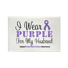 I Wear Purple (Husband) Rectangle Magnet