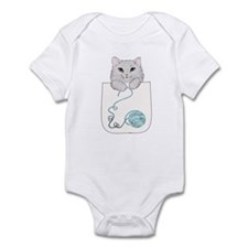 Cat and Yarn Infant Bodysuit