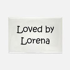 Cute Lorena Rectangle Magnet