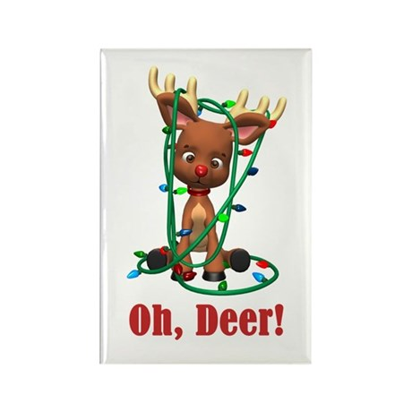Rudolf - Oh, Deer! Rectangle Magnet