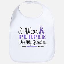 I Wear Purple (Grandma) Bib