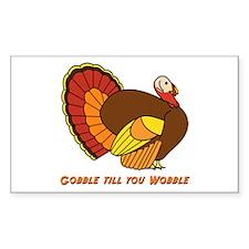 Thanksgiving Gobble Rectangle Sticker 50 pk)