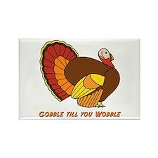 Thanksgiving Gobble Rectangle Magnet