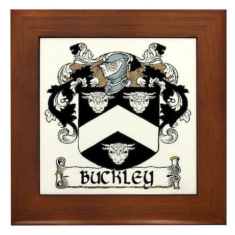 Buckley Coat of Arms Framed Tile