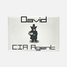 David - CIA Agent Rectangle Magnet