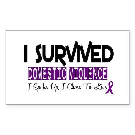 Domestic Violence Survivor 2 Rectangle Sticker