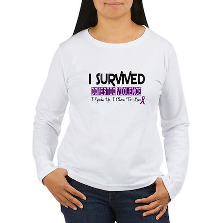 Domestic Violence Survivor 2 Women's Long Sleeve T