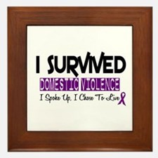 Domestic Violence Survivor 2 Framed Tile