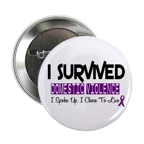 "Domestic Violence Survivor 2 2.25"" Button (100 pac"