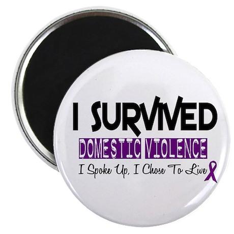 """Domestic Violence Survivor 2 2.25"""" Magnet (10 pack"""