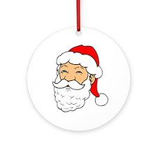 Merry Christmas - Santa Ornament (Round)