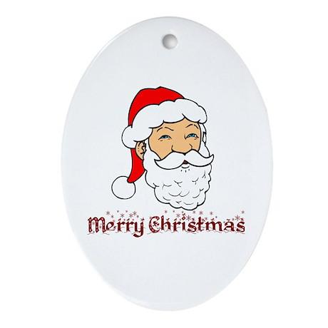 Merry Christmas - Merry Chris Oval Ornament