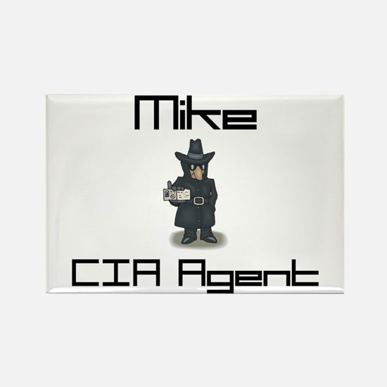 Mike - CIA Agent Rectangle Magnet