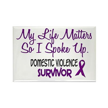 Domestic Violence Survivor 3 Rectangle Magnet (100