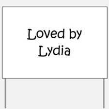 Unique Lydia Yard Sign