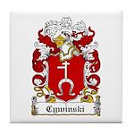 Cywinski Family Crest Tile Coaster