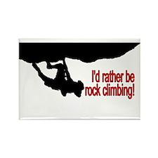 Rock Climbing Rectangle Magnet