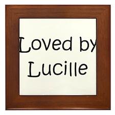 Funny Lucille Framed Tile