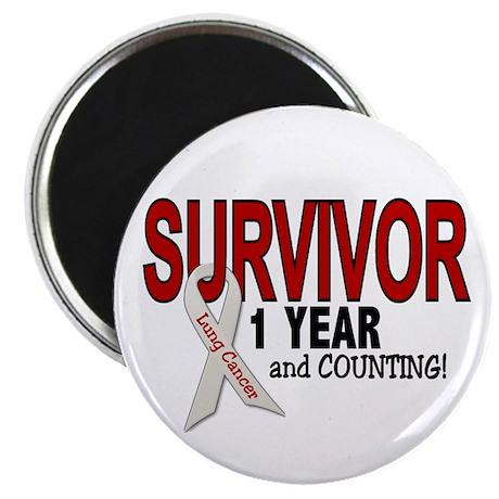 Lung Cancer Survivor 1 Year 1 Magnet