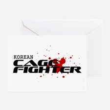 Korean Cage Fighter Greeting Cards (Pk of 10)