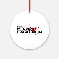 Korean Cage Fighter Ornament (Round)