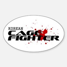 Korean Cage Fighter Oval Decal