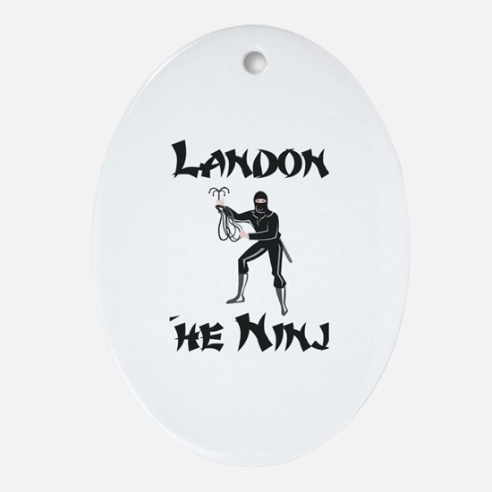 Landon - The Ninja Oval Ornament