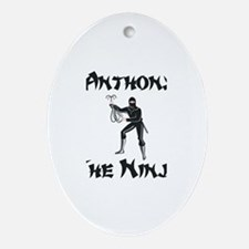 Anthony - The Ninja Oval Ornament